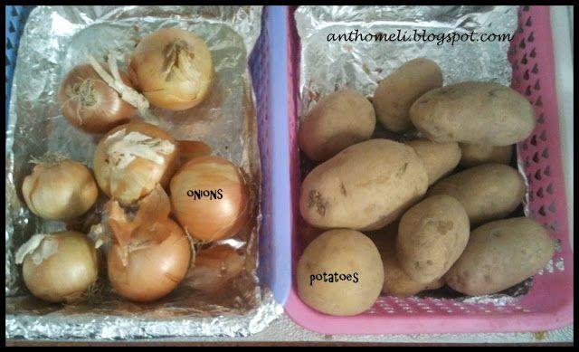 Νέο tip για την αποθήκευσης των πατατών και των κρεμμυδιών στην κουζίνα.