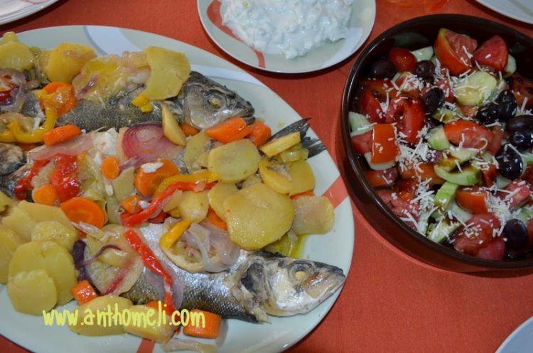 Ιδέες για νηστίσιμες συνταγές (σαρακοστιανά)- Λαβράκι στη λαδόκολλα με λαχανικά