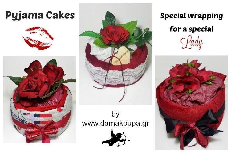 Στο damakoupa.gr οι πρωτότυπες συσκευασίες δεν έχουν τέλος. Δωρίστε ένα ζευγάρι πυτζάμες σε μορφή PJ Cakes και εντυπωσιάστε με την επιλογή σας.