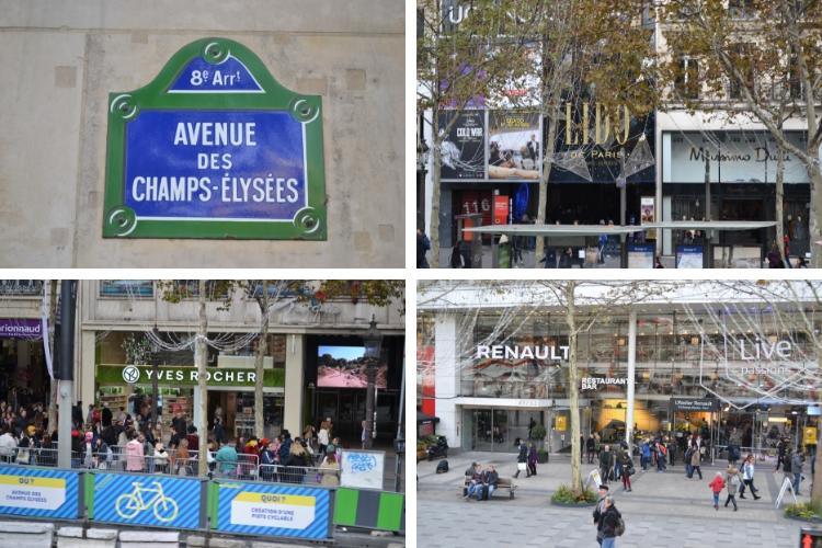 H Champs-Elysee με  τα τεράστια και υπέροχα καταστήματά της