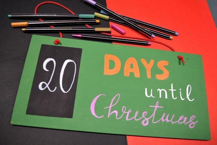 DIY Advent calendar, Αντίστροφη μέτρηση για τα Χριστούγεννα