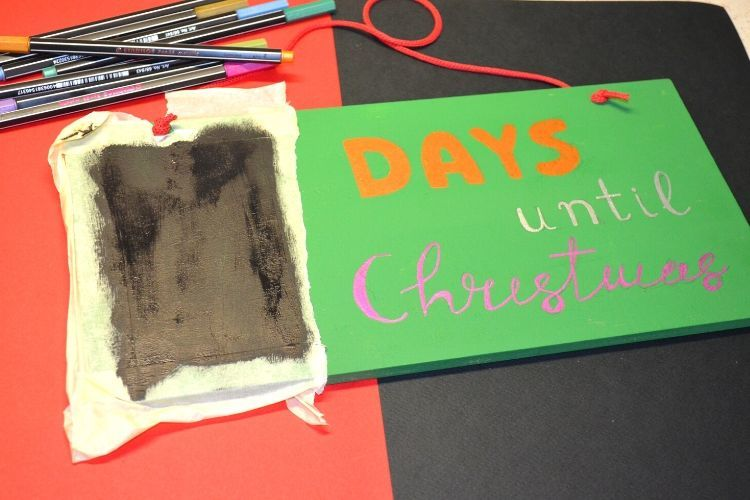 Ξύλινη πινακίδα για τα χριστούγεννα advent calendar