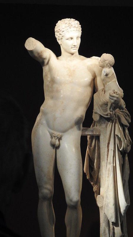 Ο Ερμής του Πραξιτέλη, μουσείο αρχαίας Ολυμπίας