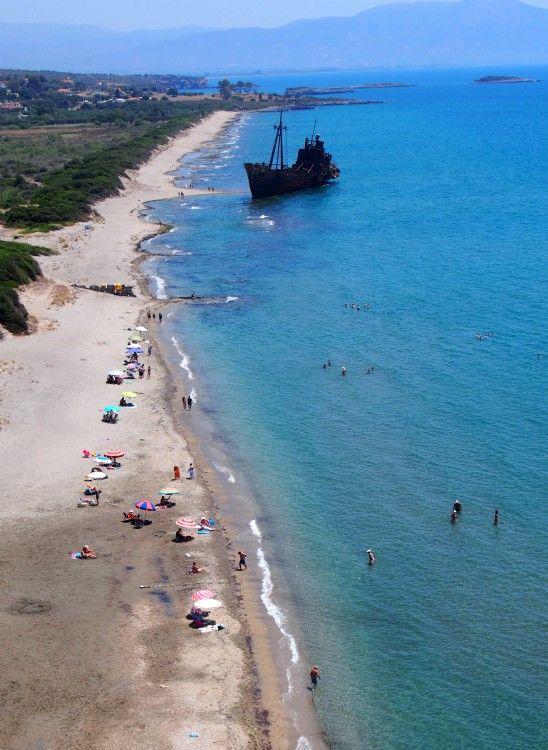 Ταξίδι στην Πελοπόννησο-Γύθειο, παραλια Βαλτάκι ή Ναυάγιο