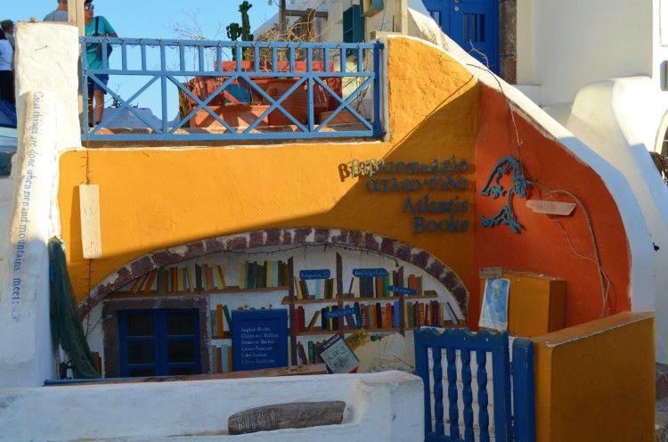 βιβλιοπωλείο Atlantis, Οία Σαντορίνη