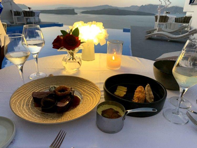 Alali restaurant, santorini, greece