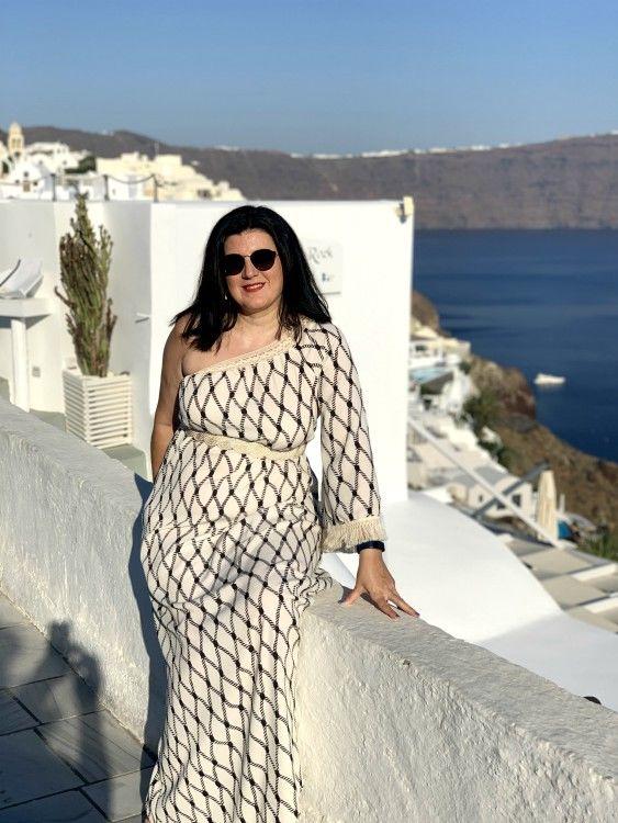 Οία, Σαντορίνη, φόρεμα Azalea.com.gr