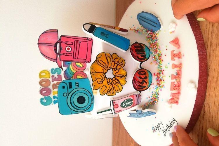 Ιδέες για ένα VSCO party - Η τούρτα από Nikoletta's Sweets