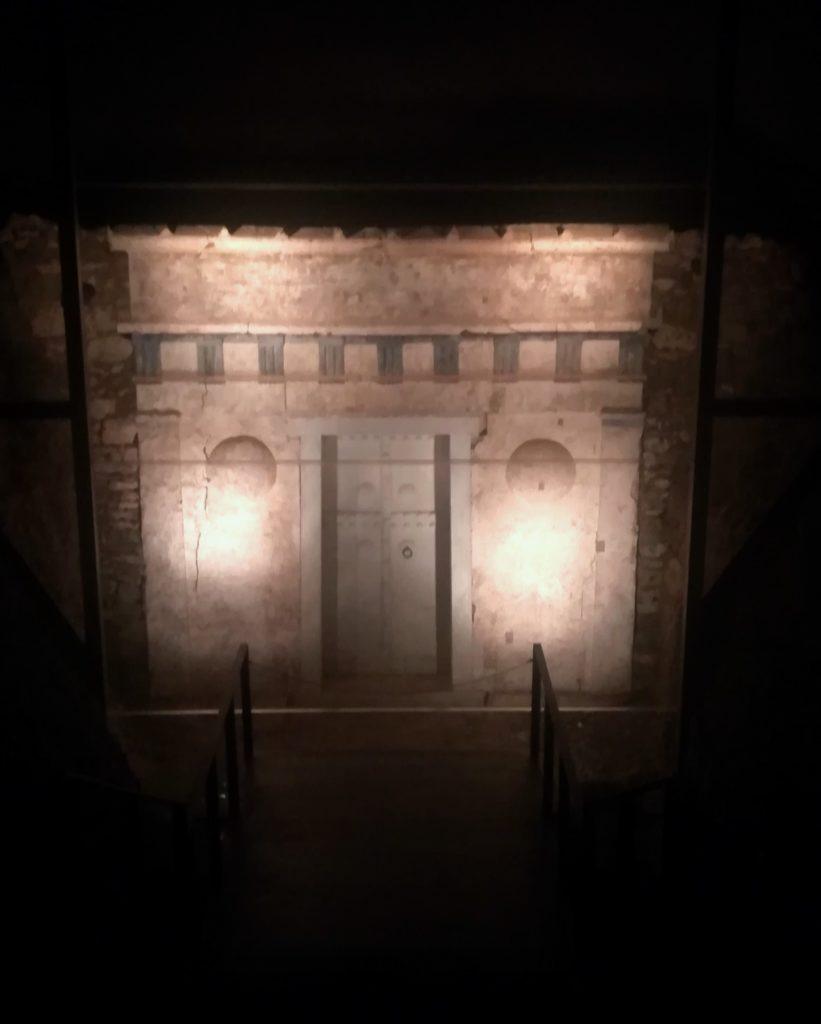 Στο Μουσείο των Βασιλικών Τάφων της Βεργίνας, ο τάφος του Πρίγκιπα