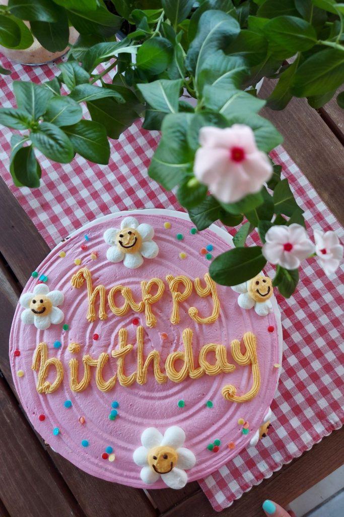Aesthetic τούρτα για τα γενέθλια της Μελίτας